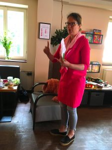 Vortragsrednerin Christiane Schild - Networking im Fuchsbezirk Landhaus Tomasa 23.07.2020 red